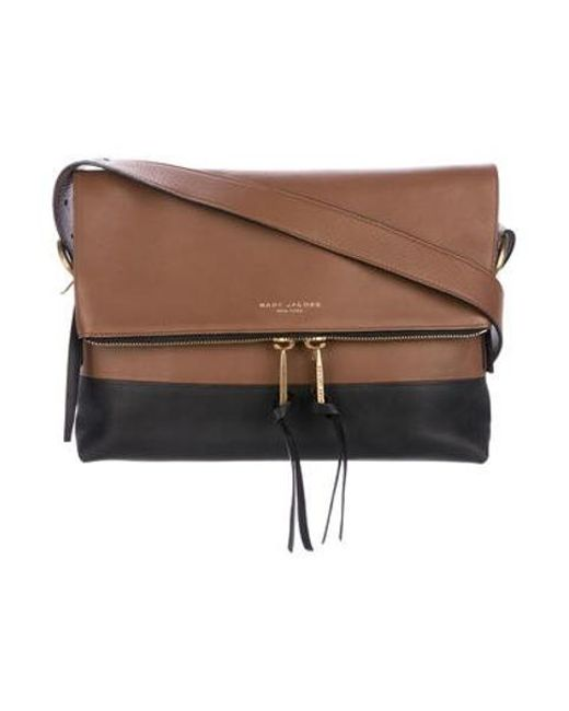 a76a7d6bab Marc Jacobs - Metallic Bicolor Leather Crossbody Bag Brown - Lyst ...
