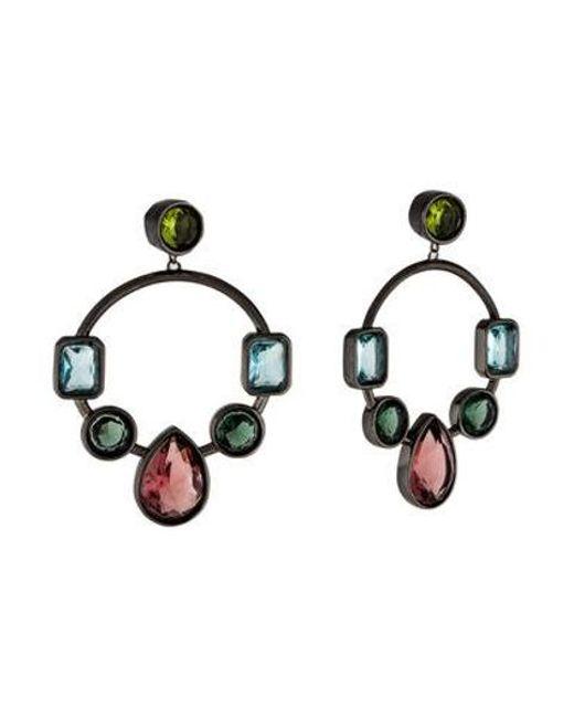 Colette Malouf - Metallic Marquess Crown Jewel Hoop Earrings Multicolor - Lyst