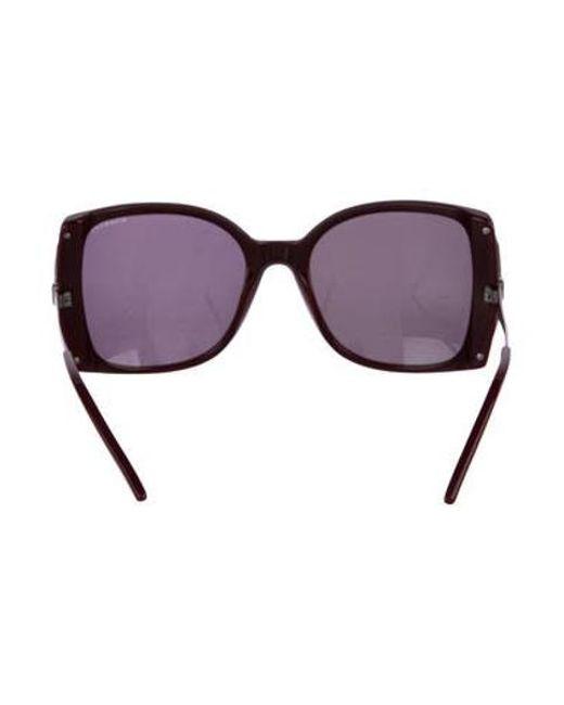 5818d829d08 ... Nina Ricci - Black Oversize Tinted Sunglasses - Lyst ...