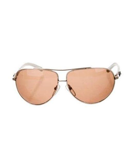 cb9639eab3b6 Chrome Hearts - Metallic Baby Gravy Aviator Sunglasses Gold - Lyst ...
