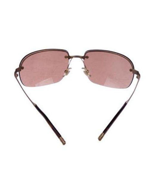 a8506047d6a ... Miu Miu - Metallic Miu Rimless Tinted Sunglasses Gold - Lyst ...