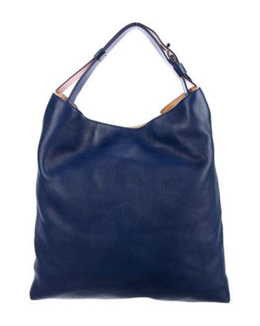 9f75449d5666 Reed Krakoff - Natural Leather Rdk Hobo Navy - Lyst ...