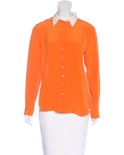 Dior   Pink Colorblock Button-up Top   Lyst