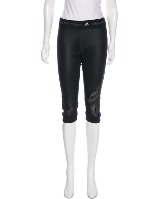 b9a618a447a8d2 Adidas By Stella McCartney - Black Cropped Athletic Leggings - Lyst ...