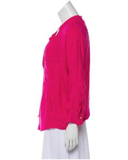 3151e95f255e9 Lyst - Étoile Isabel Marant Long Sleeve Silk Top in Pink