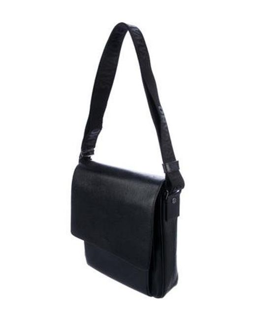 ... Ferragamo - Metallic Textured Leather Messenger Bag Silver for Men -  Lyst ... 02222c5c5ca93