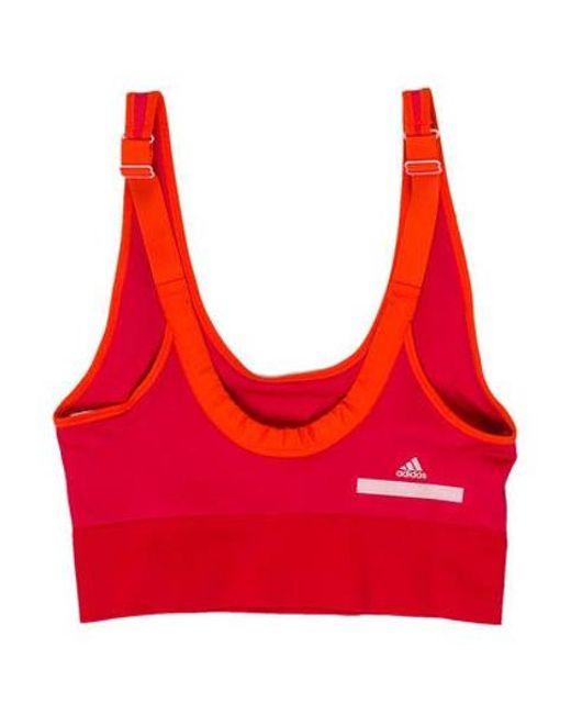 745d1fadb722b ... Adidas By Stella McCartney - Pink Seamless Striped Sports Bra W  Tags -  Lyst