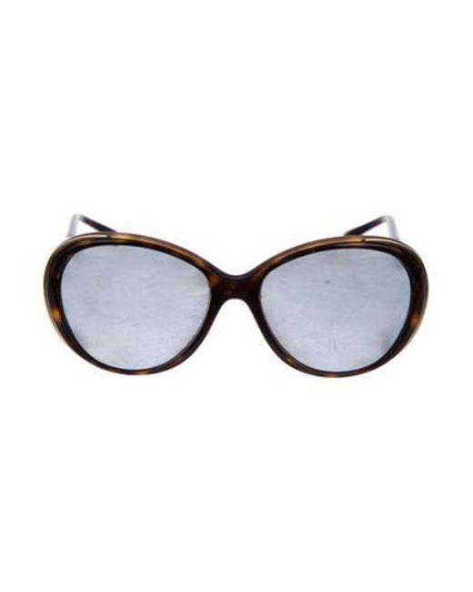 8baf9e889c7 Chanel - Metallic Round Cc Sunglasses Gold - Lyst ...