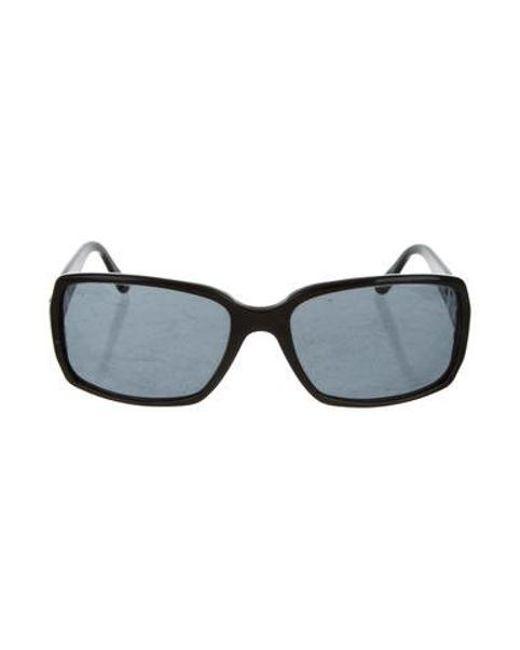 af371c4a77a Chanel - Metallic Rectangle Cc Sunglasses Black - Lyst ...
