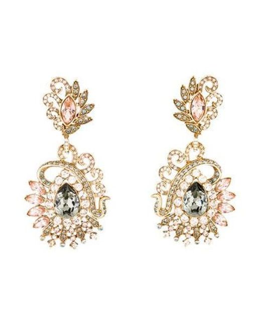Judith Leiber Metallic Lulu Vintage Chandelier Earrings Gold Lyst