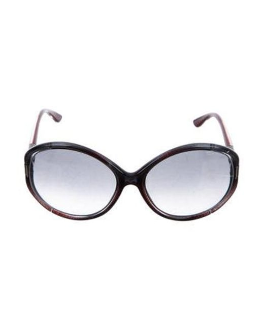 46f48c5a51c8 Tom Ford - Gray Sandrine Oversize Sunglasses Grey - Lyst ...