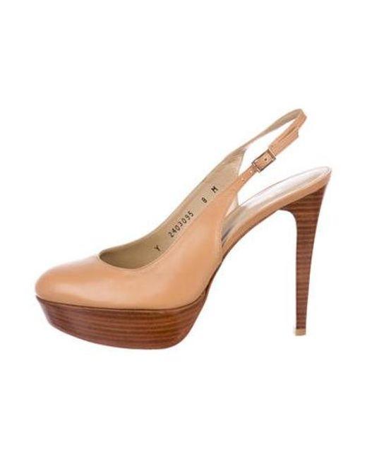 55cb0cf2d90 Stuart Weitzman - Brown Leather Platform Sandals - Lyst ...