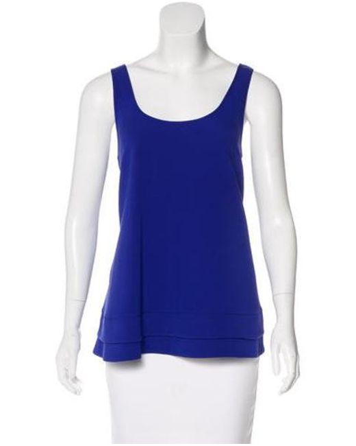 Proenza Schouler - Blue Silk Sleeveless Blouse - Lyst