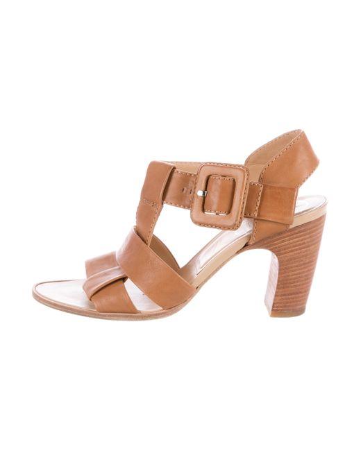 Roger Vivier | Metallic Leather Multistrap Sandals Cognac | Lyst
