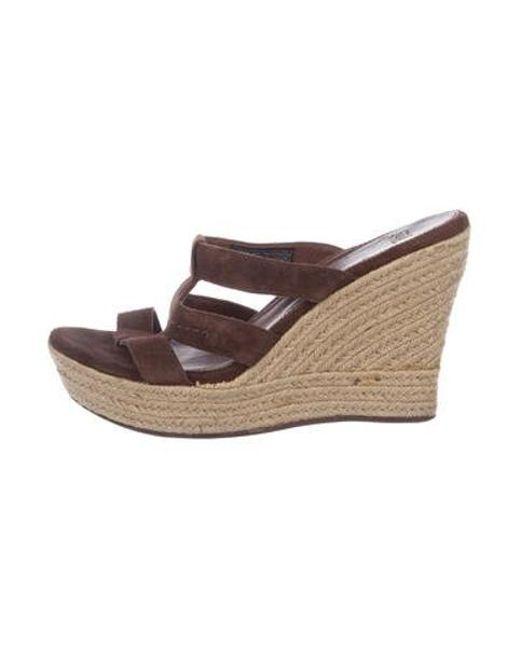 06737f1d3071 Ugg - Brown Suede Platform Sandals - Lyst ...
