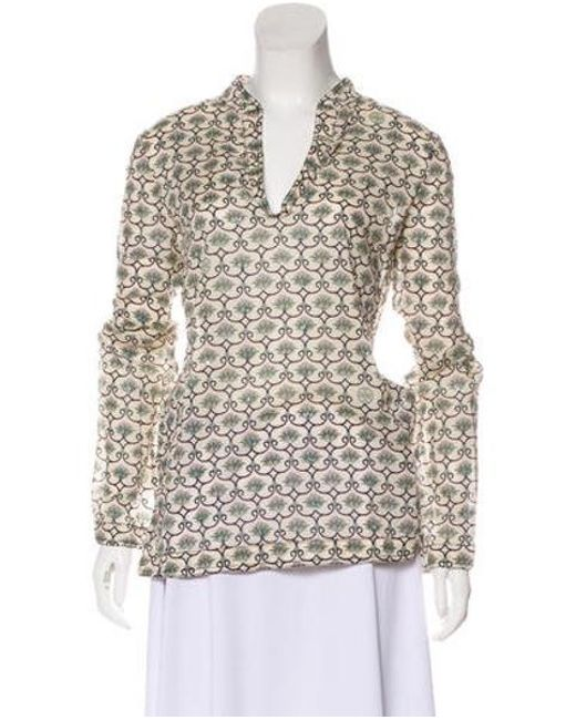 810e38c8816 Tory Burch - Embellished Printed Tunic Multicolor - Lyst ...