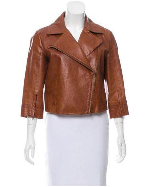Robert Rodriguez - Brown Leather Notch-lapel Jacket - Lyst
