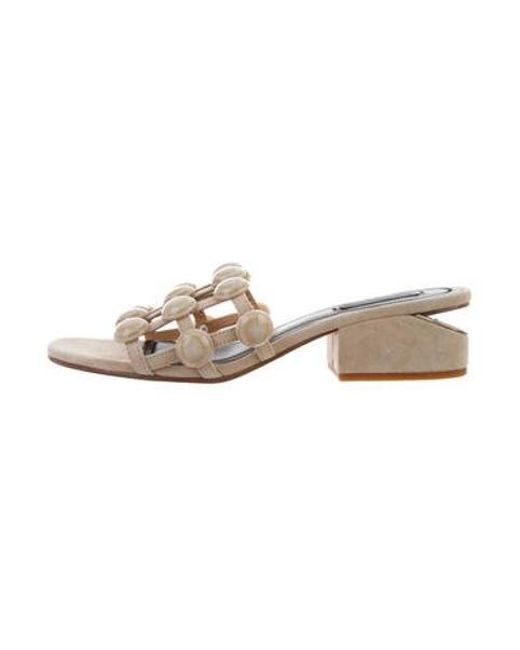 eebd8b76914 Alexander Wang - Natural Lou Suede Studded Sandals W  Tags Tan - Lyst ...