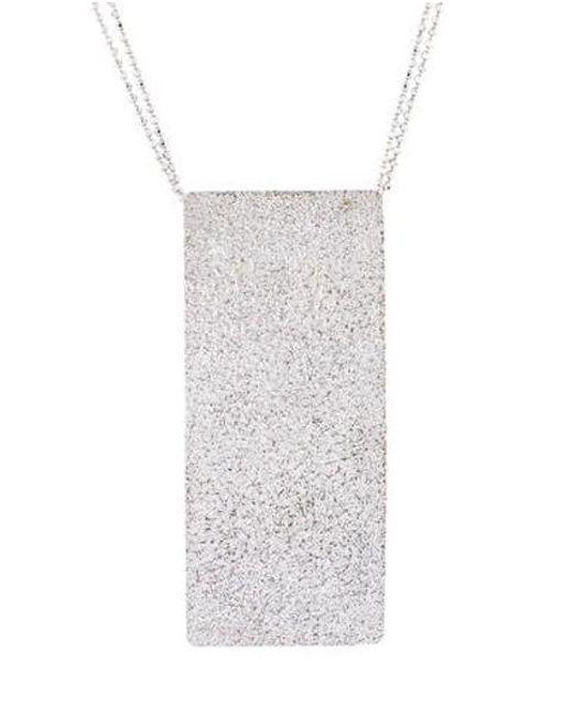 Brunello Cucinelli - Metallic Dog Tag Necklace Silver - Lyst