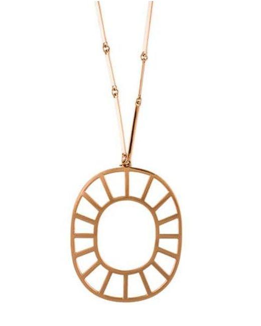 Arme De L'Amour - Metallic Medallion Pendant Necklace Rose - Lyst