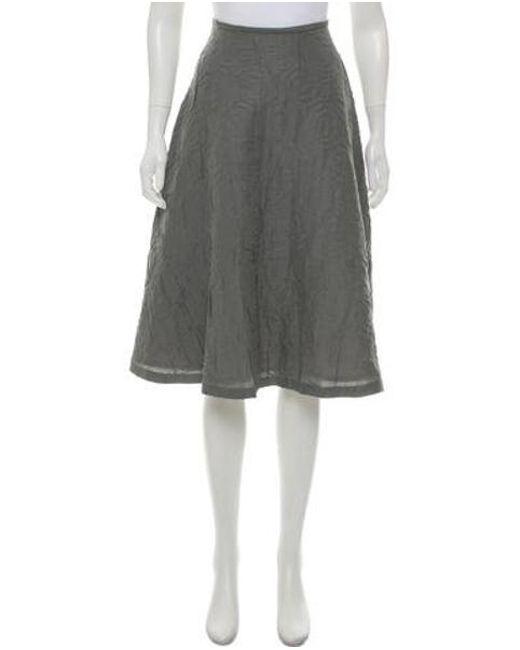 6ee28be06 Behnaz Sarafpour - Gray Silk Knee-length Skirt Grey - Lyst ...
