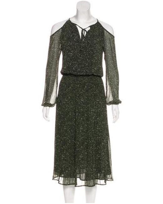 Michael Kors - Green Cold-shoulder Accent Knee-length Dress W/ Tags - Lyst