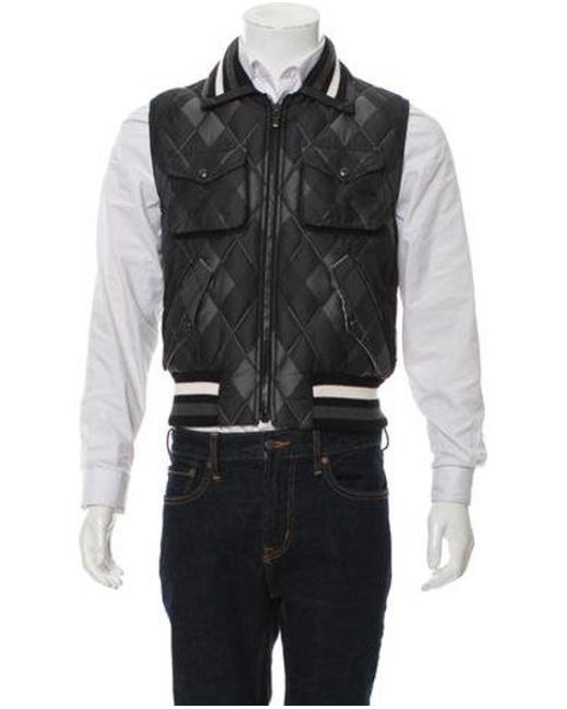 74cece6d817d Lyst - Moncler Quilted Down Vest W  Tags Black in Gray for Men
