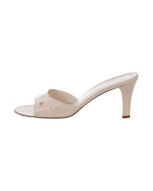 e69a1606833 Marc Jacobs - White Leather Slide Sandals - Lyst ...