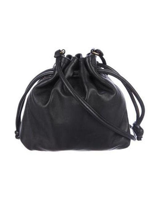 4633cf7eb9bf Clare V. - Metallic Leather Bucket Bag Black - Lyst ...