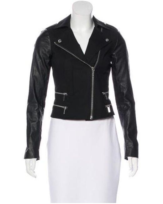 MICHAEL Michael Kors - Black Michael Kors Notch-lapel Moto Jacket - Lyst
