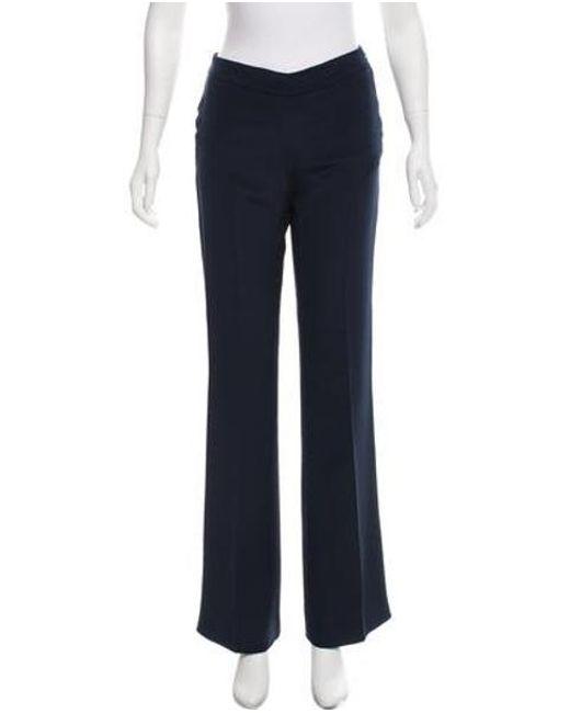 Carolina Herrera - Blue 2017 Mid-rise Silk Pants W/ Tags Navy - Lyst
