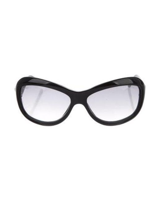 29d16ef35fe Chanel - Black Quilted Cc Sunglasses - Lyst ...