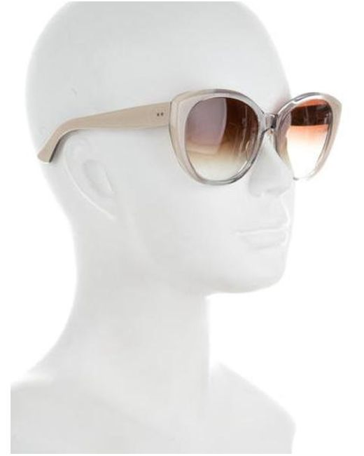 4af04579ed55 ... Dita - White Amant Round Sunglasses Clear - Lyst