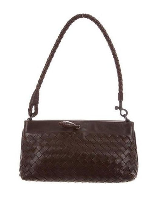 c654eb6ead Bottega Veneta - Natural Woven Pochette Brown - Lyst ...