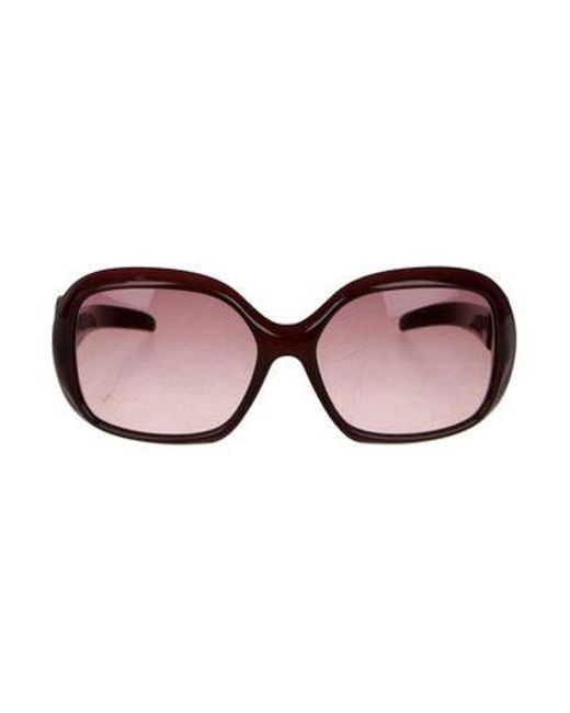 92d436af8ad6 Emilio Pucci - Brown Oversize Tinted Sunglasses Multicolor - Lyst ...