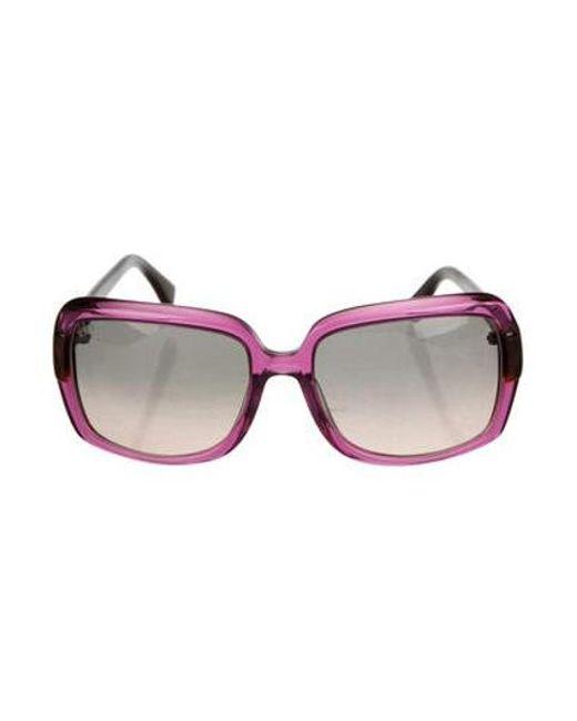 fe48c320d2b Tod s - Metallic Tinted Square Sunglasses Purple - Lyst ...
