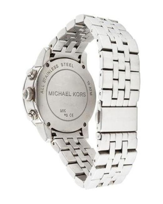 cad82041c8c9 ... Michael Kors - Metallic Ritz Watch - Lyst ...