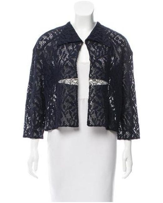 Dior - Blue Lace A-line Jacket W/ Tags Navy - Lyst