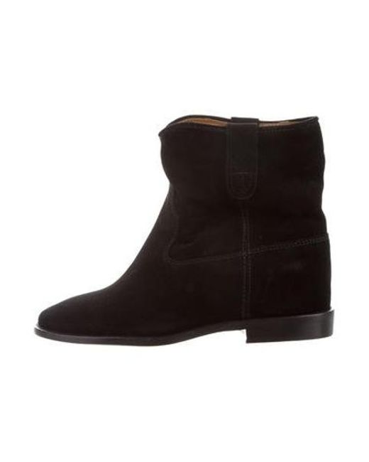 fdc7ae49406 Étoile Isabel Marant - Black Suede Round-toe Ankle Boots W/ Tags - Lyst ...