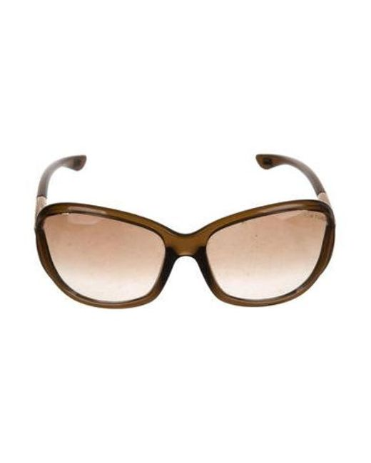 7d3a36f9d2 Tom Ford - Brown Jennifer Oversize Sunglasses - Lyst ...