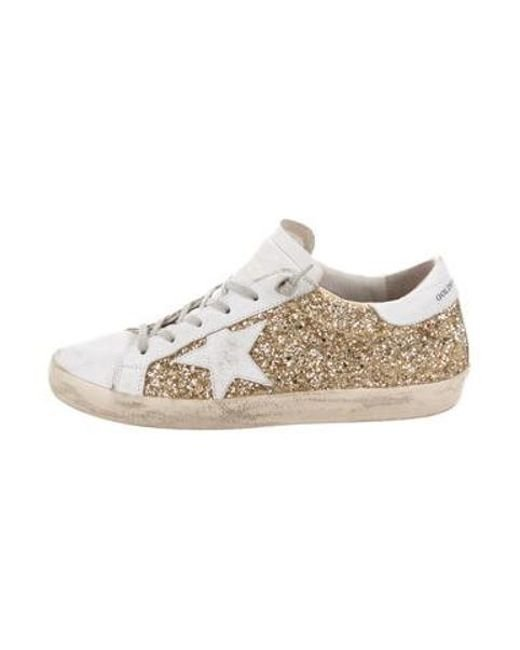 d3d60da157b Golden Goose Deluxe Brand - Metallic Glitter Superstar Sneakers Gold - Lyst  ...