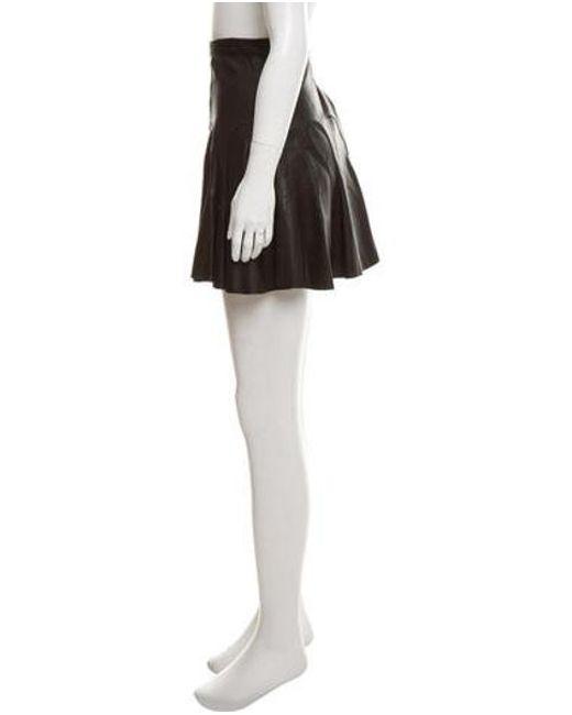 05ae7ddf9 ... 10 Crosby Derek Lam - Black Leather Mini Skirt - Lyst ...