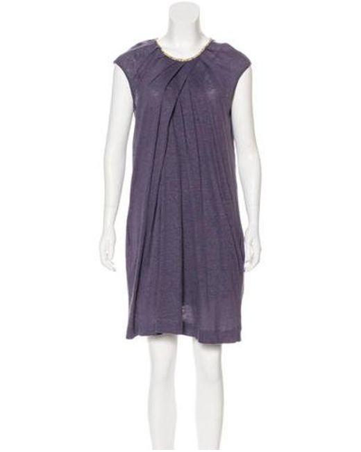 89d5d95aaa98 M Missoni - Purple Knit Mini Dress - Lyst ...
