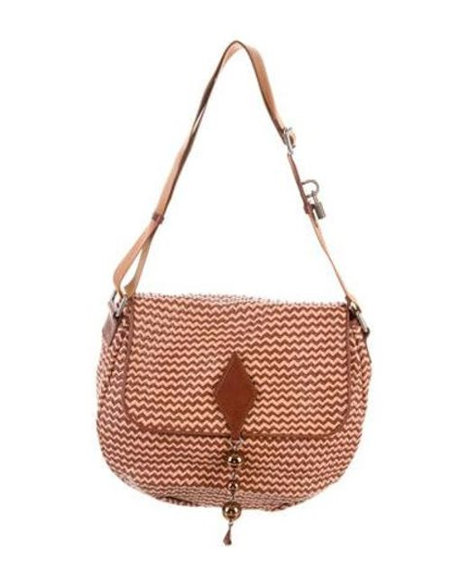 9f0feee6bfd8 Marc Jacobs - Brown Woven Leather Crossbody Bag - Lyst ...
