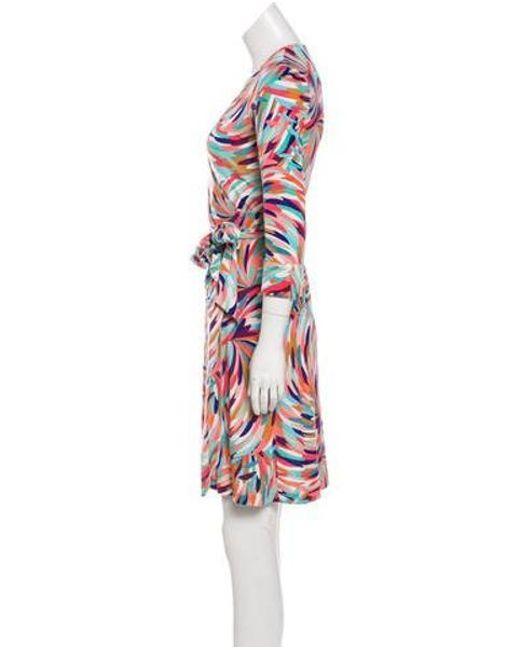 d23a22120077 ... Diane von Furstenberg - Blue Silk Julian Wrap Dress - Lyst ...