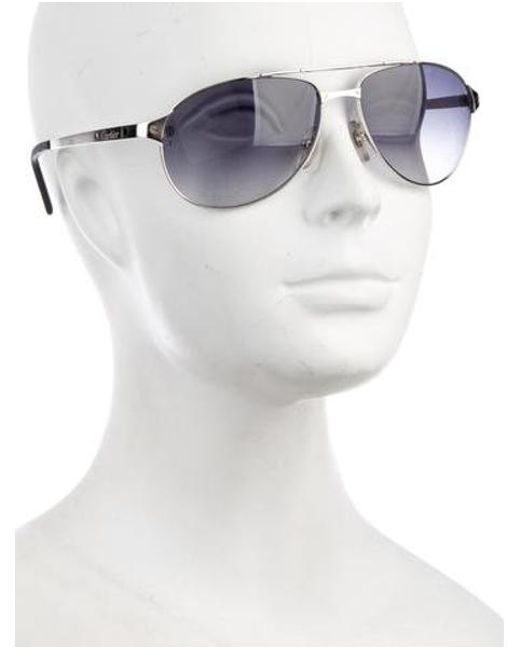 151cfb1002 ... Cartier - Metallic Santos-dumont Tinted Sunglasses Silver - Lyst