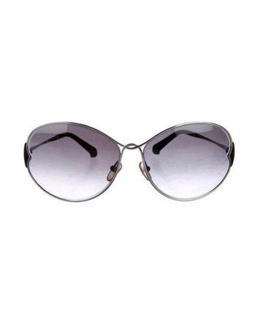 aaf0e39c1010 Louis Vuitton - Metallic Daisy Gradient Sunglasses Silver - Lyst ...