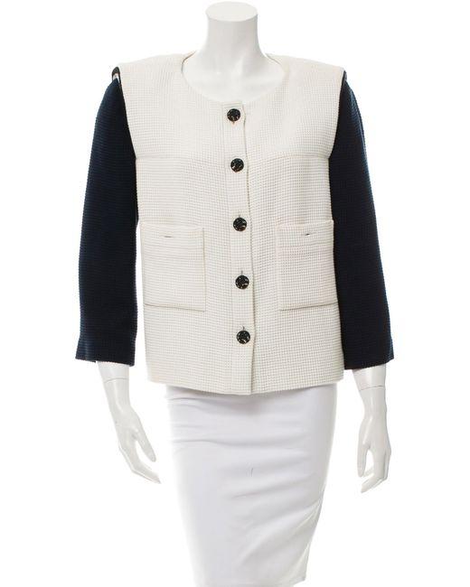 Chanel | Blue Colorblock Tweed Jacket | Lyst