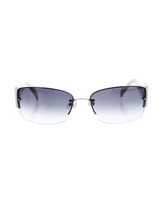 Chanel | White Strass Cc Sunglasses | Lyst
