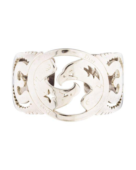 Dior | Metallic Cuff Bracelet Silver | Lyst